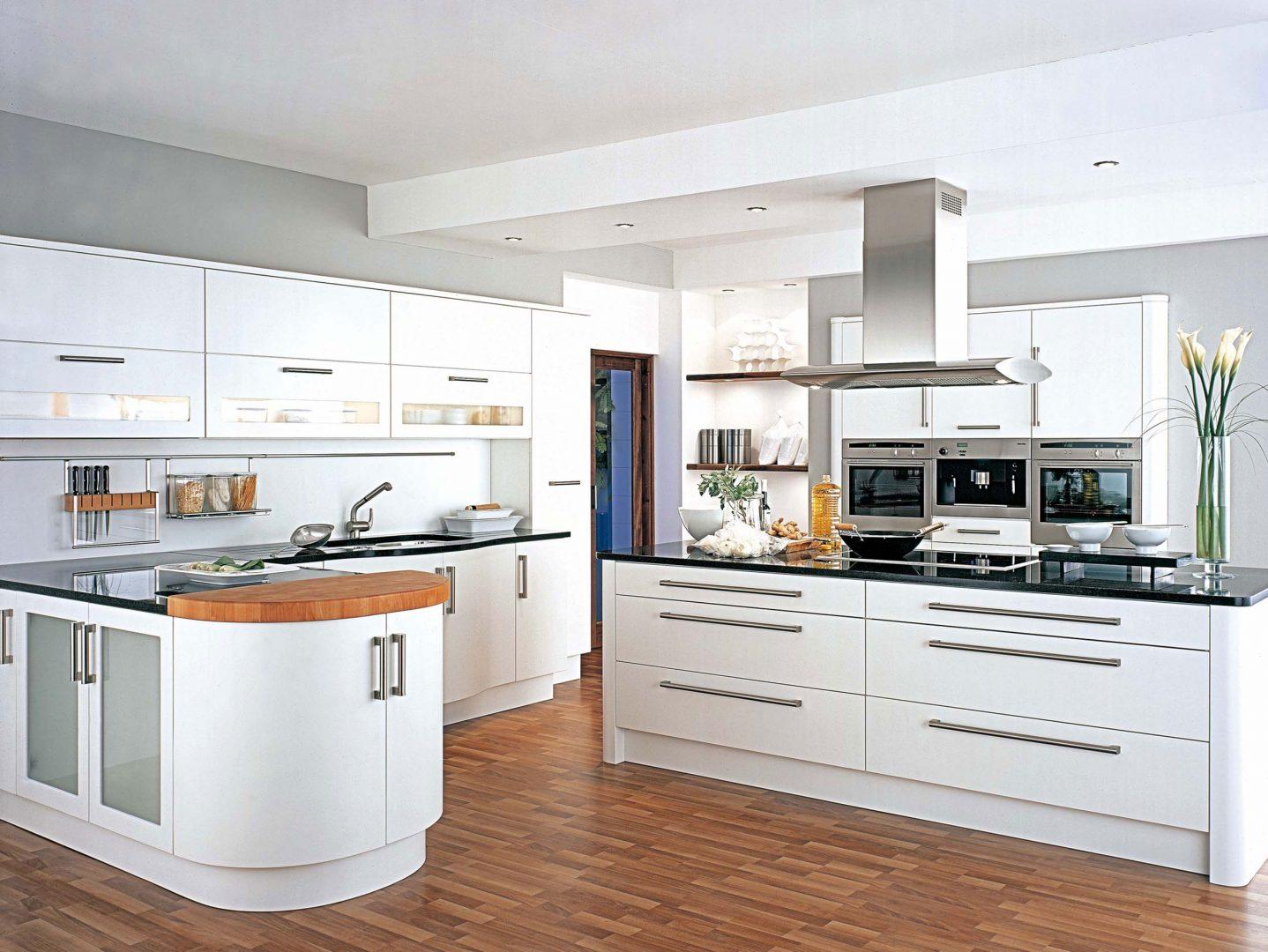 cocina moderna de tonos blancos - Cocinas Blancas Modernas