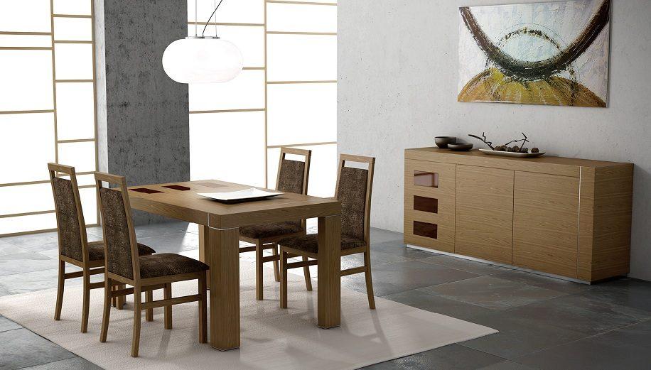 Comedor de madera de estilo moderno im genes y fotos - Cortinas para salon estilo moderno ...