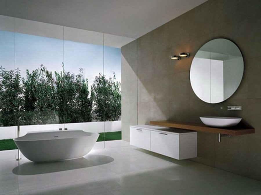 Cuarto de baño moderno minimalista :: Imágenes y fotos