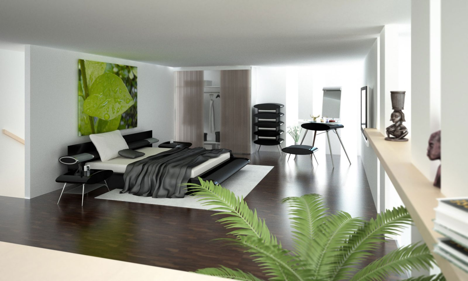 Townhouse Bedroom Interior Design : Townhouse Bedroom Interior Design : Elegant Bedroom Design Ideas