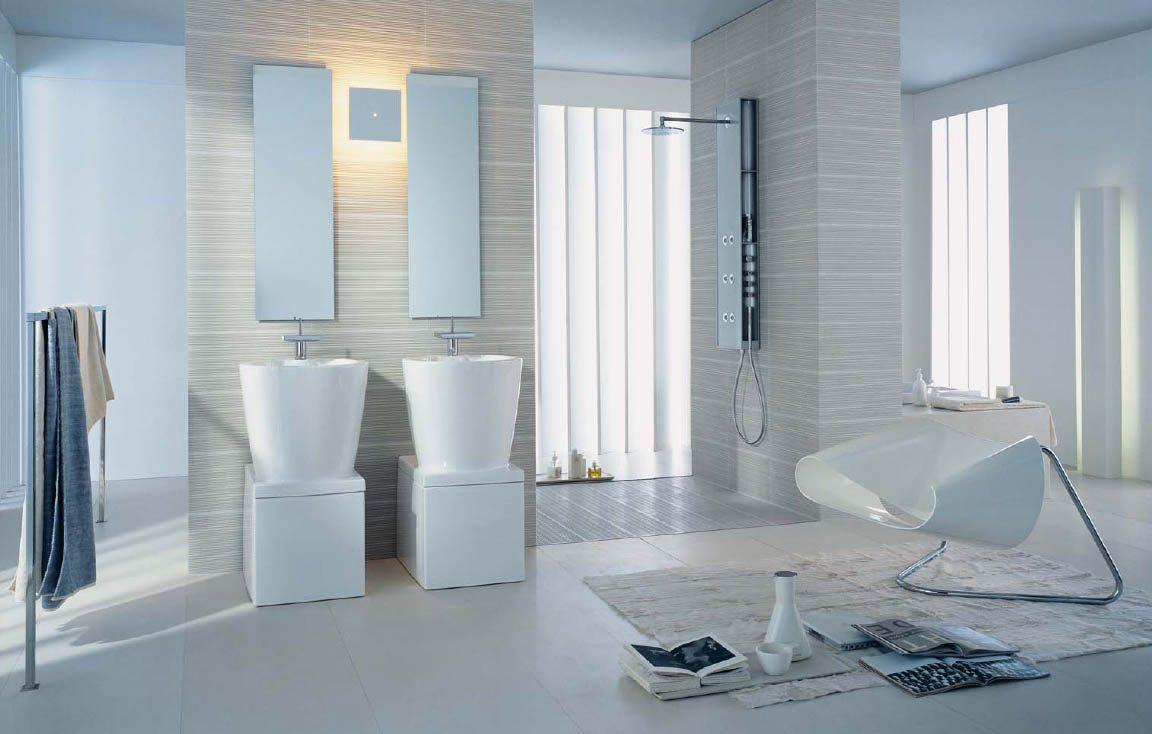 Imagen Baños Modernos:Inodoros modernos para un baño blanco :: Imágenes y fotos
