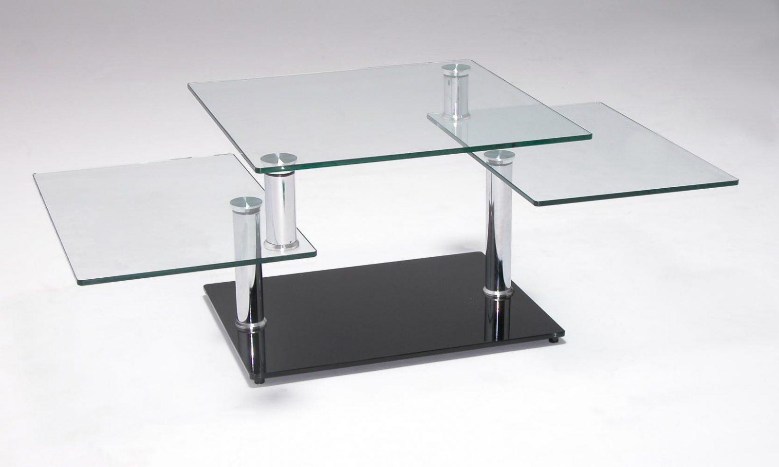 Mesas de centro de diseno de cristal dise os for Mesa cuadrada moderna