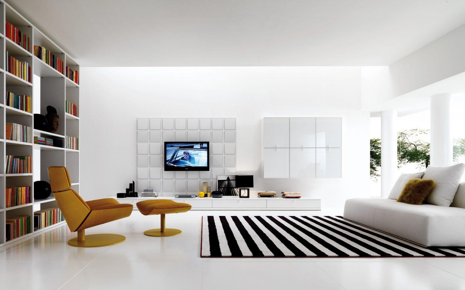 Galer a de im genes muebles modernos para el sal n for Muebles sencillos para salon