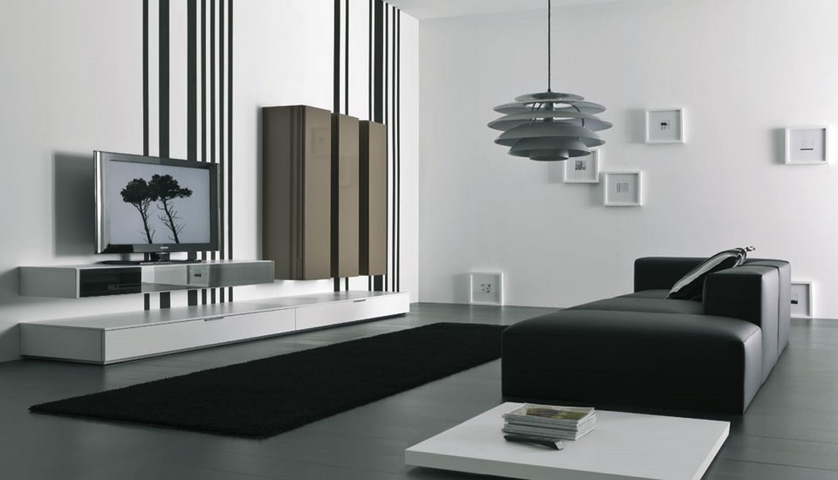 mueble de televisi n moderno para el sal n im genes y fotos. Black Bedroom Furniture Sets. Home Design Ideas