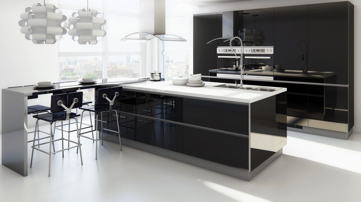 Muebles de cocina modernos sin tiradores for Cocina comedor modernos fotos