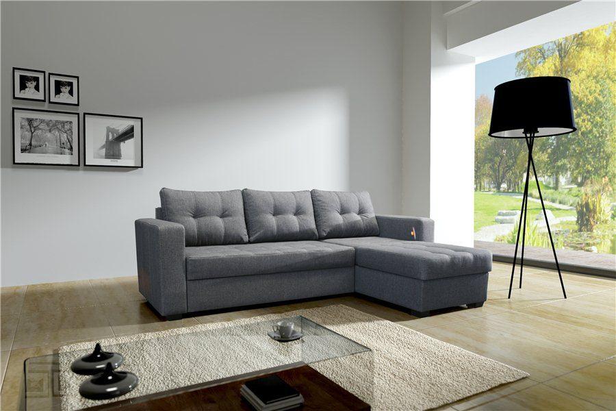Sof angular gris im genes y fotos for Decoracion salon con sofa gris