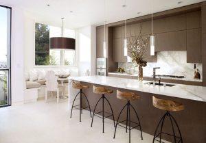 Iluminación de una cocina moderna