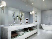 Cuarto de baño moderno de mármol :: Imágenes y fotos