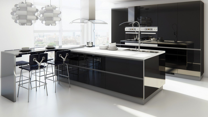 Muebles de cocina modernos sin tiradores